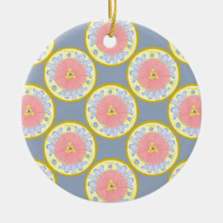 Light Passion Flower Plates Pattern Ornament