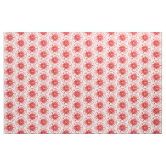 Light Passion Pink Floral Medallion Plate Fabric