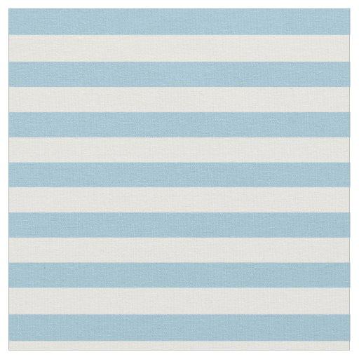 Light Pastel Blue White Striped Fabric