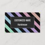 [ Thumbnail: Light Pastel Colors & Black Stripes Pattern Card ]