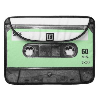 Light Pastel Green Label Cassette Sleeve For MacBook Pro