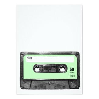 Light Pastel Green Vintage Cassette Card
