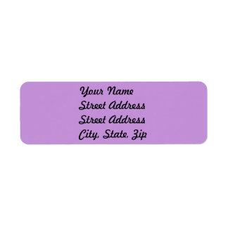 Light Pastel Lavender Return Address Sticker Label