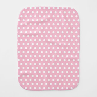 Light Pastel Pink and White Polka Dots Burp Cloth