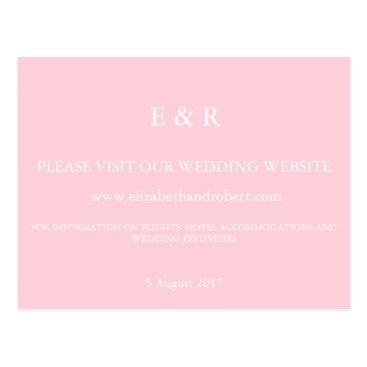 Beach Themed Light Pastel Pink Wedding Invitation Set Postcard