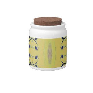 Light Pastel Yellow Seamless Pattern Candy Jars