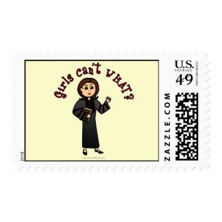 Light Pastor Girl Stamps