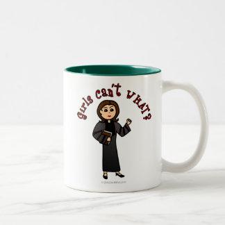 Light Pastor Girl Two-Tone Coffee Mug