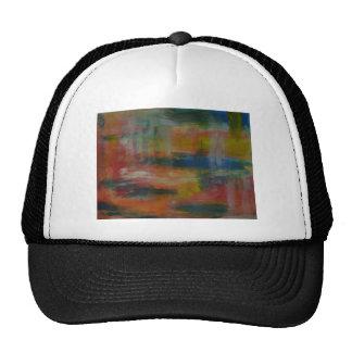 light pattern trucker hat
