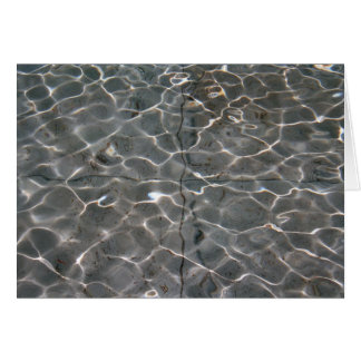 Light patterns on water greeting card