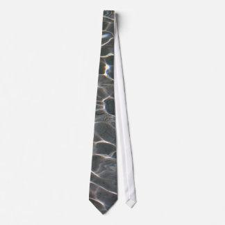 Light patterns on water tie