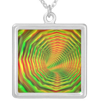 Light Patterns Silver Plated Necklace