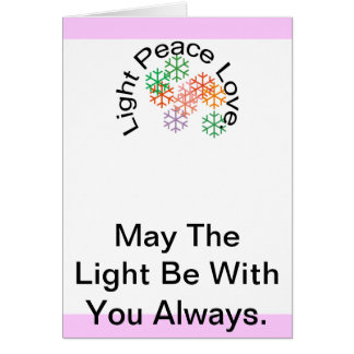 Light Peace Love Stationery Note Card