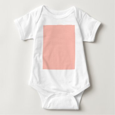 Professional Business Light Peach Color Only Nothing But Color Designs Baby Bodysuit