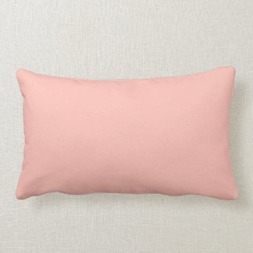 Professional Business Light Peach Color Only Nothing But Color Designs Lumbar Pillow