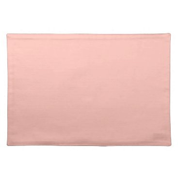 Professional Business Light Peach Color Only Nothing But Color Designs Placemat