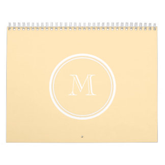 Light Peach High End Colored Calendar