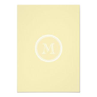 Light Peach High End Colored 5x7 Paper Invitation Card