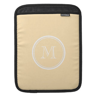 Light Peach High End Colored Sleeve For iPads