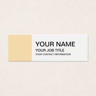 Light Peach High End Colored Mini Business Card