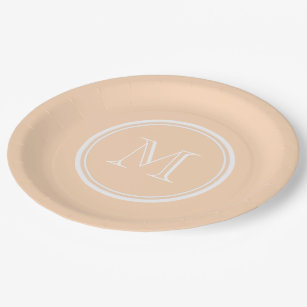 Light Peach High End Colored Paper Plate  sc 1 st  Zazzle & Peach Colored Plates | Zazzle