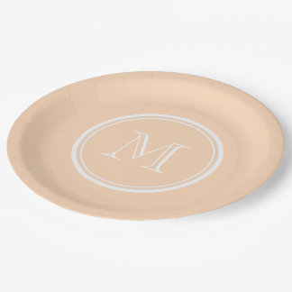 Light Peach High End Colored Paper Plate