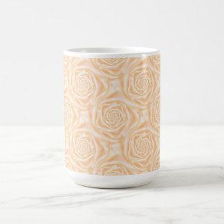 Light Peach Spiral Roses Mug