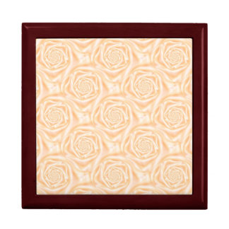 Light Peach Spiral Roses Triangle Gift Box