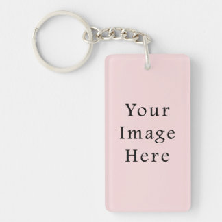 Light Peachy Pink Color Trend Blank Template Keychain