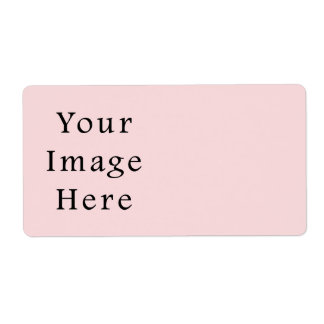 Light Peachy Pink Color Trend Blank Template Label