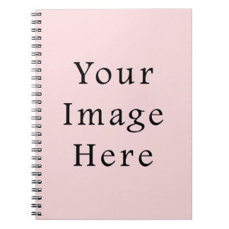 Light Peachy Pink Color Trend Blank Template Notebook