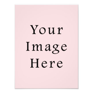 Light Peachy Pink Color Trend Blank Template Photo Print