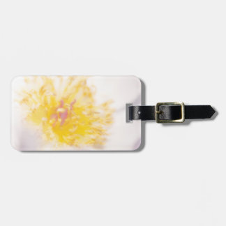 Light Peony with Yellow Stamens Flower Close-up Bag Tag