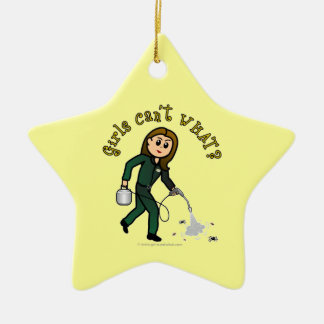 Light Pest Control Girl Ceramic Ornament