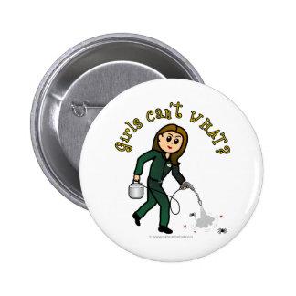 Light Pest Control Girl Pinback Button