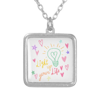 Light Phrase up your life Silver Plated Necklace