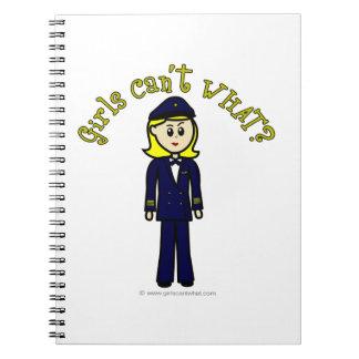 Light Pilot Girl Notebook