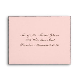 Light Pink (706) with return address Envelopes