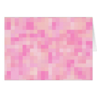 Light Pink Abstract Pattern. Greeting Card