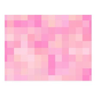 Light Pink Abstract Pattern. Postcard