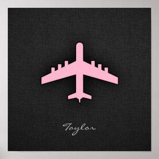 Light Pink Airplane Poster