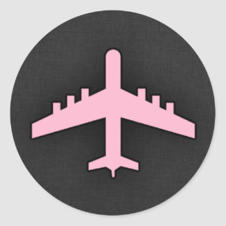 Light Pink Airplane Stickers