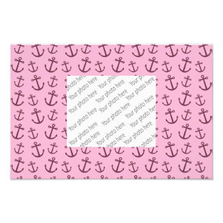 Light pink anchor pattern photograph