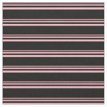 [ Thumbnail: Light Pink and Black Colored Pattern Fabric ]