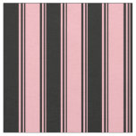 [ Thumbnail: Light Pink and Black Colored Stripes Fabric ]