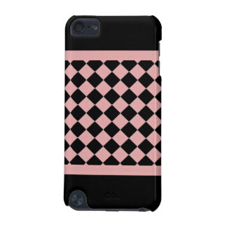 Light Pink and Black Diamond Pattern iPod Touch (5th Generation) Cover