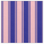 [ Thumbnail: Light Pink and Blue Colored Striped Pattern Fabric ]