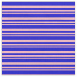 [ Thumbnail: Light Pink and Blue Colored Stripes Pattern Fabric ]