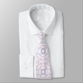 Light Pink and Blue Pattern Neck Tie