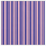 [ Thumbnail: Light Pink and Blue Striped Pattern Fabric ]